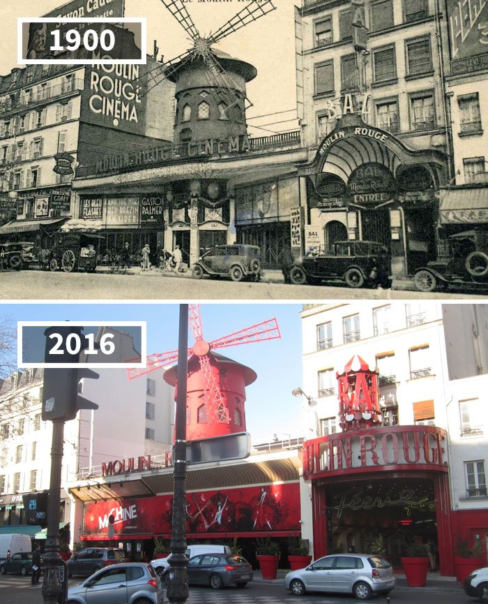 Moulin Rouge, Paris, France, 1900 - 2016
