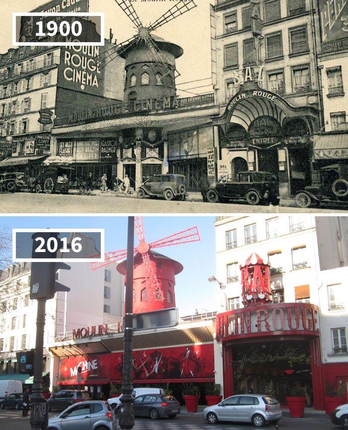 Moulin Rouge, Paris, France, 1900 - 2016
