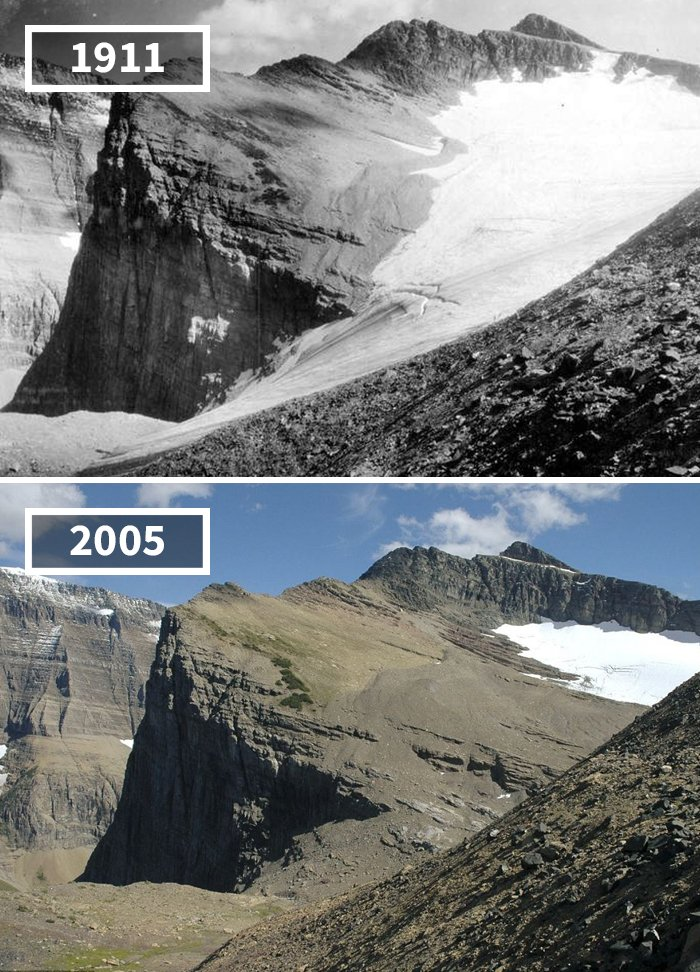 Chaney Glacier, USA, 1911 - 2005