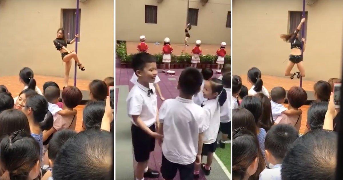 pole dance.jpg?resize=648,365 - Principal Welcomes Kindergarten Students Back To School By Hiring Pole Dancer - Gets Fired