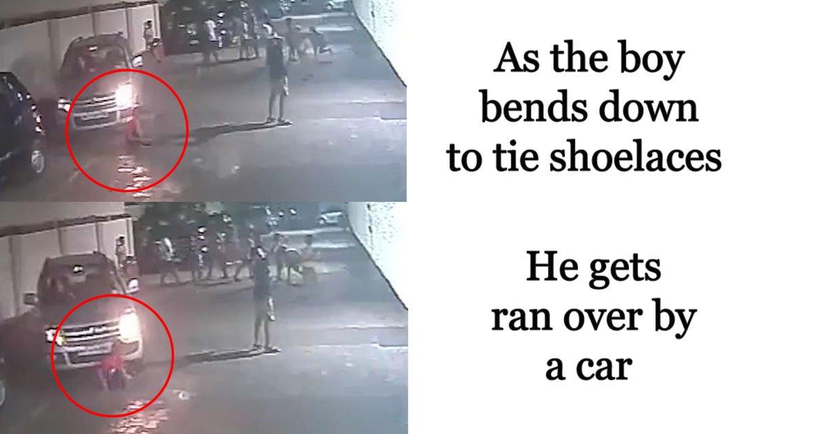 ran over.jpg?resize=412,232 - Un jeune garçon survit miraculeusement après avoir été renversé par une voiture