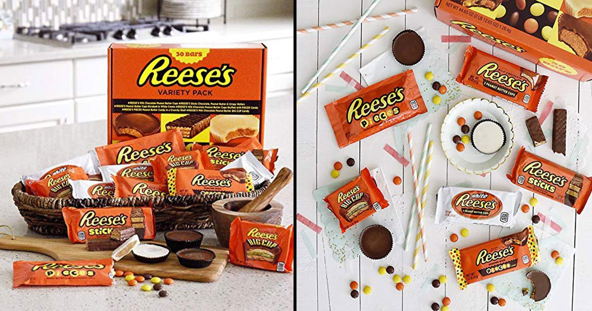 reeses 30 variety bar.jpg?resize=636,358 - For All Reeses Fans: Now You Can Enjoy Reese's Selection Box Filled With Six Different Types Of Peanut Butter Treats