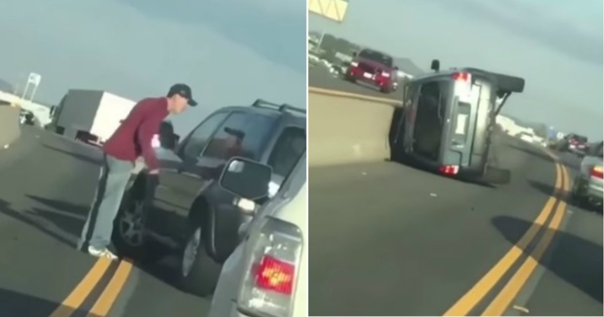 road karma.jpg?resize=300,169 - Instant Karma: Driver's Pickup Truck Flips Over As He Tries To Cut Someone Off