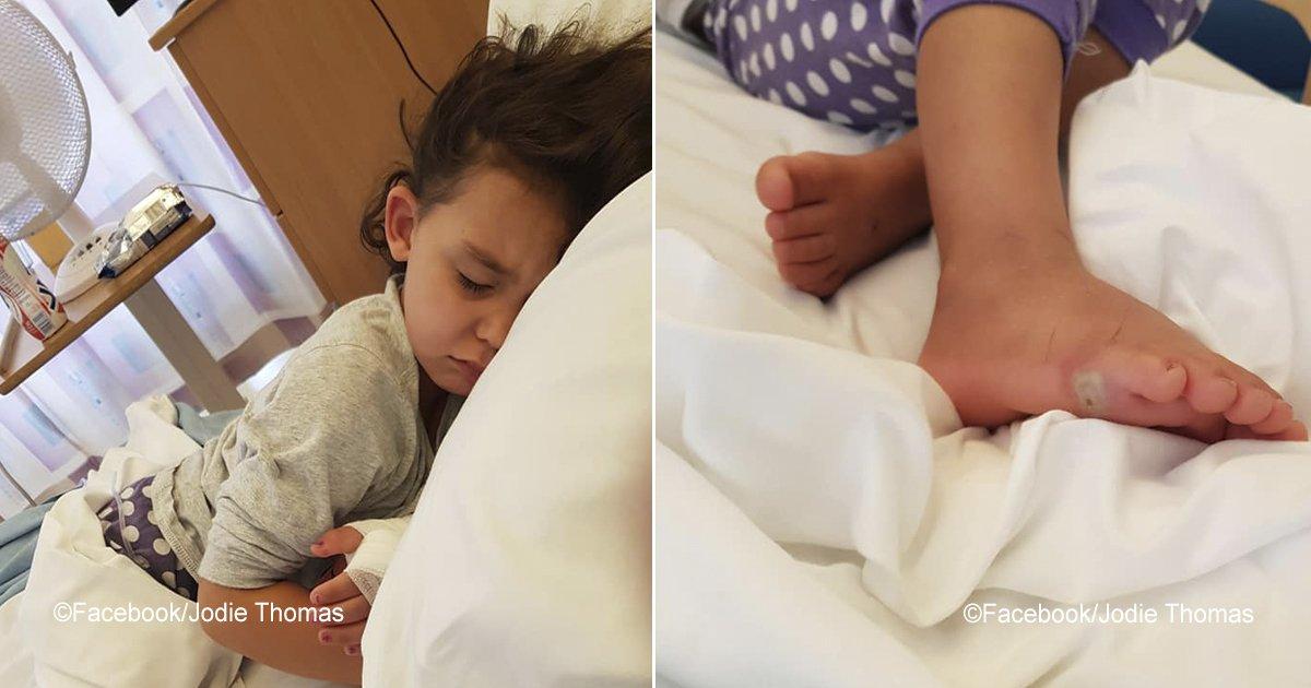 sepsis.jpg?resize=300,169 - Después de comprarle unos zapatos a su pequeña, una infección mortal, en horas, puso en riesgo su vida