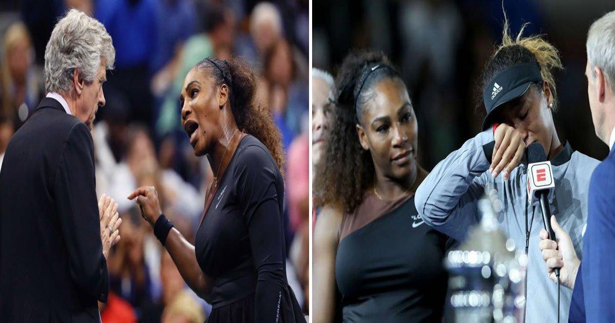 """serena umpire.jpg?resize=636,358 - Mike Dickson: """"Deux personnes ont été blessées samedi soir et aucune d'entre elles ne s'appelaient Serena Williams"""""""