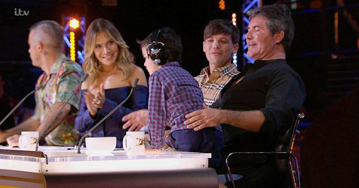 simon cowell eric.jpg?resize=636,358 - Simon Cowell's Son, Eric Surprises His Dad At Work And Makes His Debut On The Judging Panel