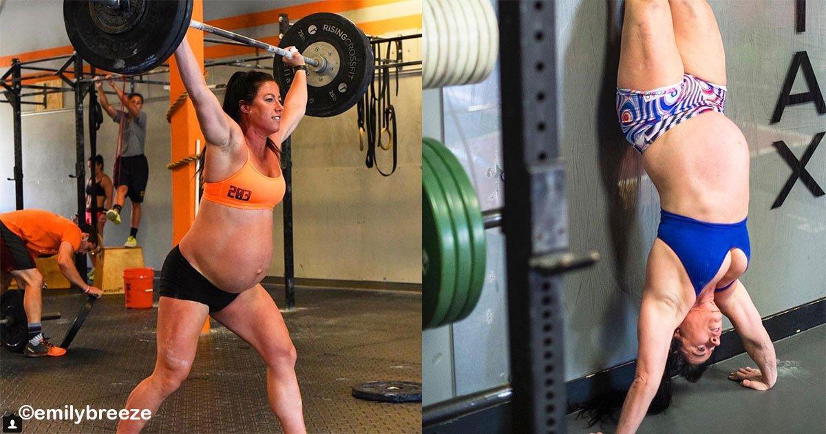 sin titulo 1 5.jpg?resize=300,169 - Mujer embarazada de 40 semanas hace intensa rutina de ejercicios