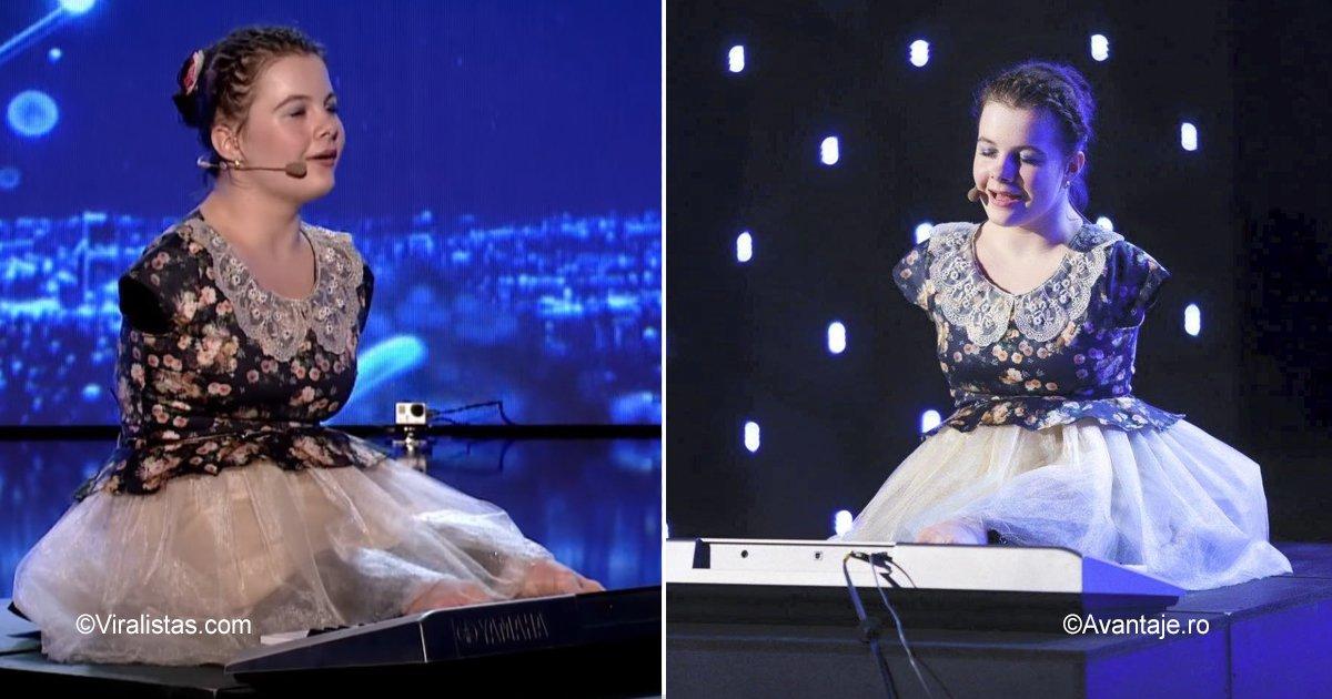 sinmanos.jpg?resize=1200,630 - Uma garota de 14 anos surpreendeu a todos com seu talento, sua voz e seu jeito de tocar piano com os pés