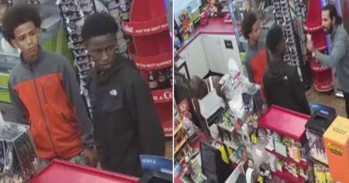 teens rob.jpg?resize=636,358 - Two Teens Robbed A Gas Station After The Cashier Collapsed As He Suffered A Heart Attack