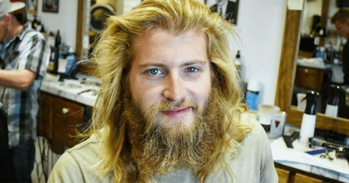 this guy transformed into a completely different human being after a haircut.jpg?resize=648,365 - Este cara se transformou em um ser humano completamente diferente depois de cortar o cabelo
