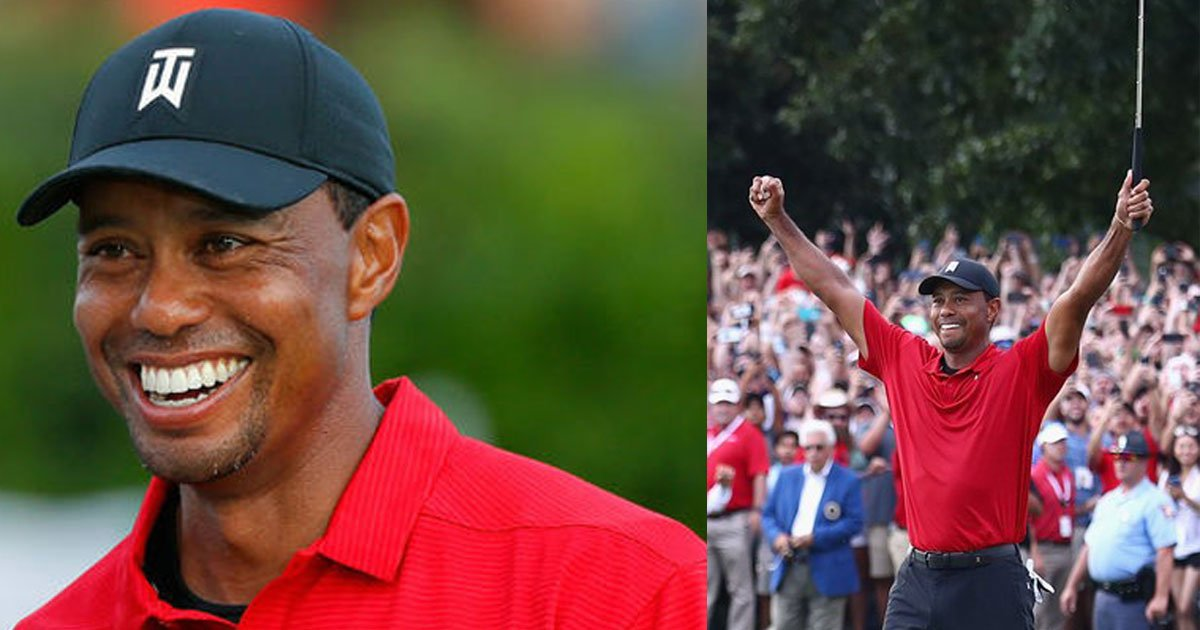 tiger woods claims his first victory in five years as he wins his first tour championship.jpg?resize=636,358 - Tiger Woods Claims His First Victory In Five Years As He Wins His First Tour Championship