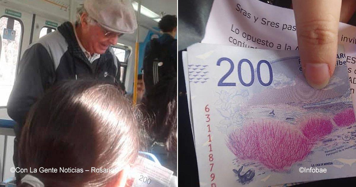 tren.jpg?resize=300,169 - En Argentina, un hombre mayor subió a un tren y bondadosamente regaló dinero a todos los pasajeros