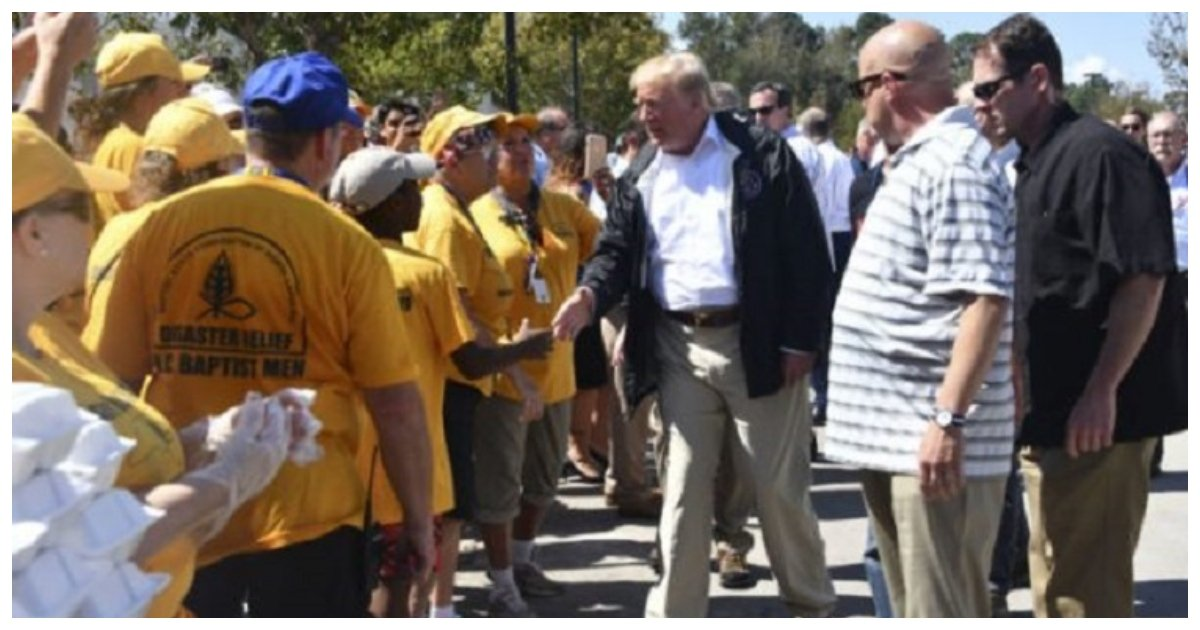 trump 6.jpg?resize=636,358 - In The Aftermath Of Hurricane Florence, President Trump Visits One Of The Hardest-Hit Areas