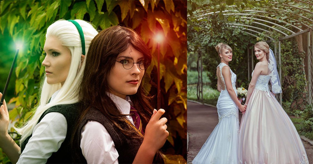 two female cosplayers got married and their wedding pictures are too beautiful to see.jpg?resize=300,169 - Deux cosplayeuses se sont mariées et leurs photos de mariage sont forcément uniques!