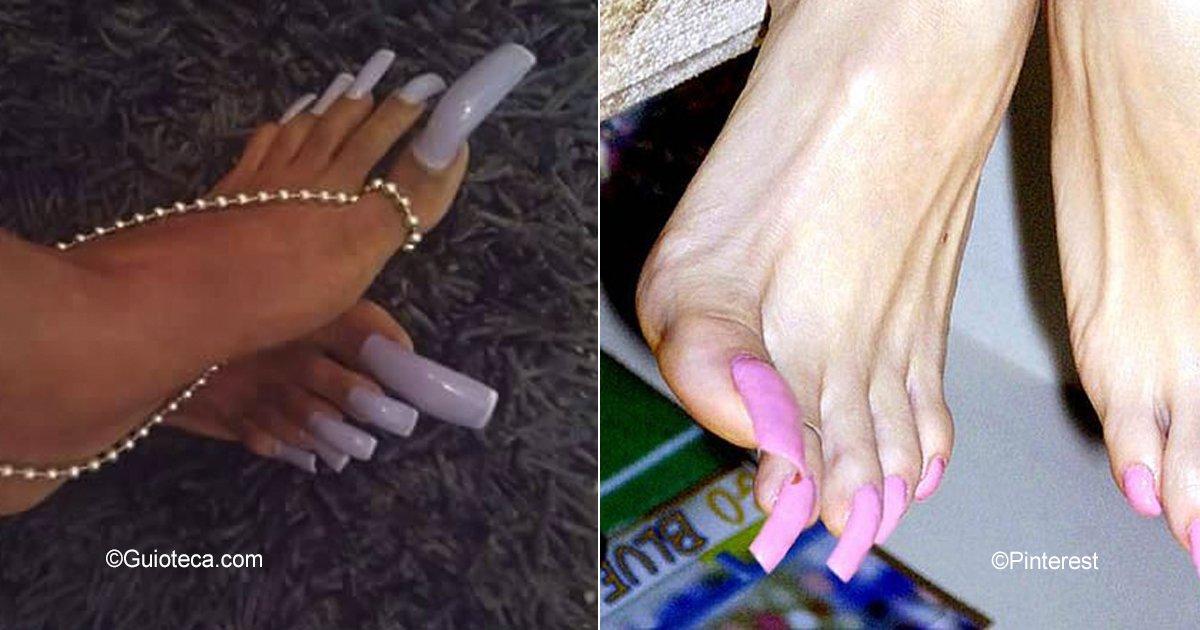 unas 1.jpg?resize=412,232 - La nueva tendencia de las uñas largas en los pies que ha horrorizado a muchos en Instagram