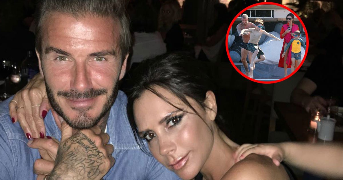 untitled 1 15.jpg?resize=636,358 - Beckhams Enjoying Trip To French Riviera And Young Beckhams Performed Gravity-Defying Stunts