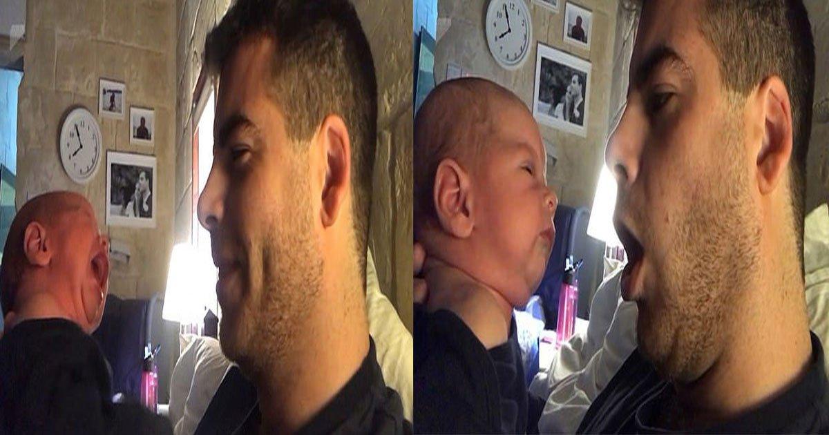 untitled 1 34.jpg?resize=636,358 - Este pai tentou uma nova técnica para impedir que seu filho de duas semanas chorasse