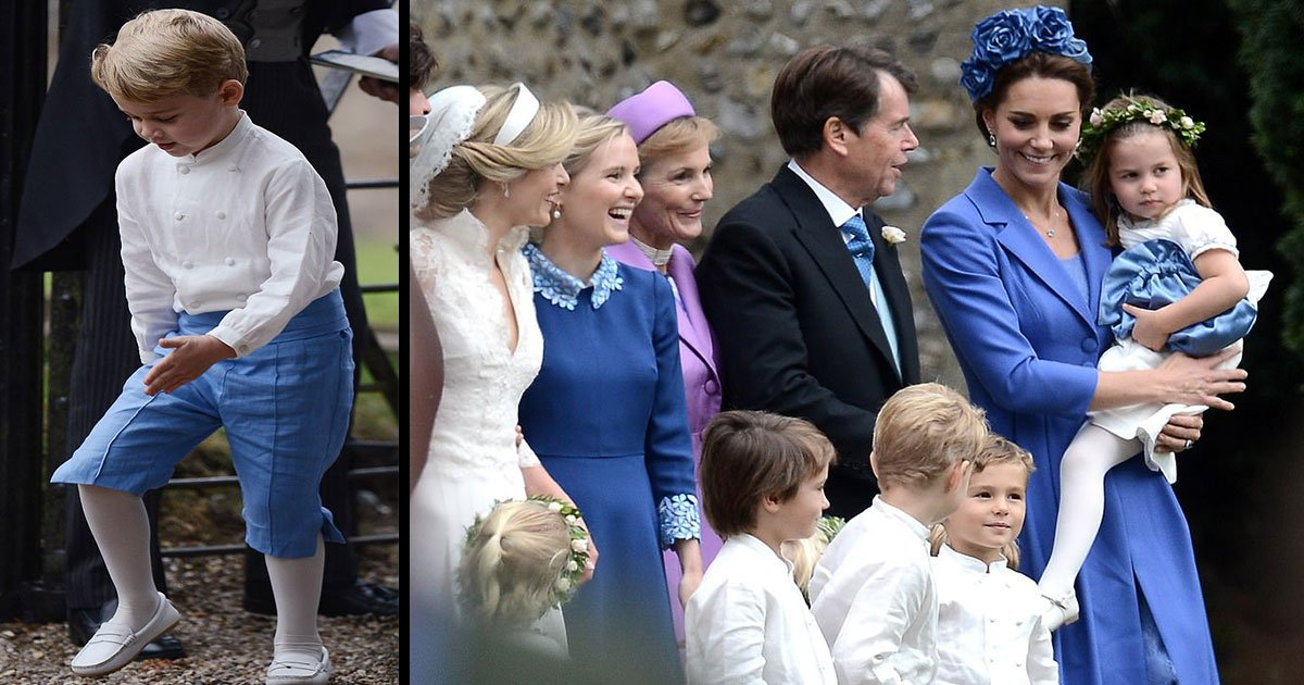 untitled 1 39.jpg?resize=300,169 - Royal Family: Prince George and Princess Charlotte Stole The Show At Sophie Carter's Wedding