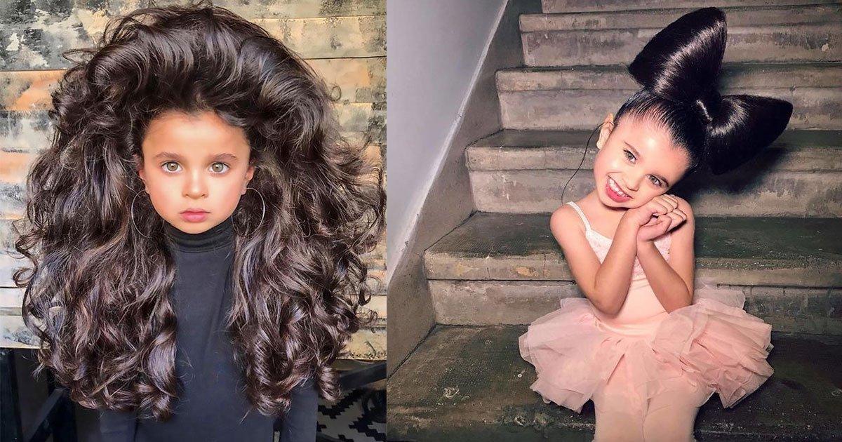 untitled 1 7.jpg?resize=412,232 - Une fillette de 5 ans fait sensation sur Instagram avec ses cheveux volumineux, mais certains trouvent ça «inapproprié» et voici pourquoi