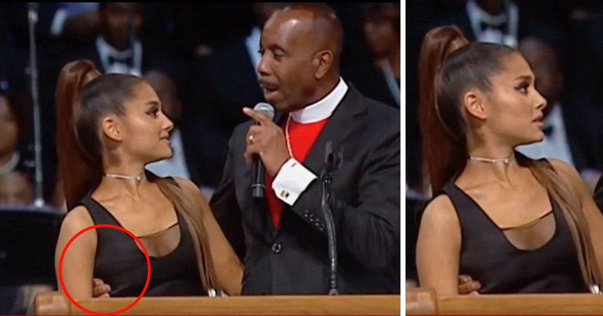 untitled design 10.png?resize=1200,630 - Bispo pede desculpas por ter tocado de maneira inapropriada Ariana Grande no funeral de Aretha Franklin