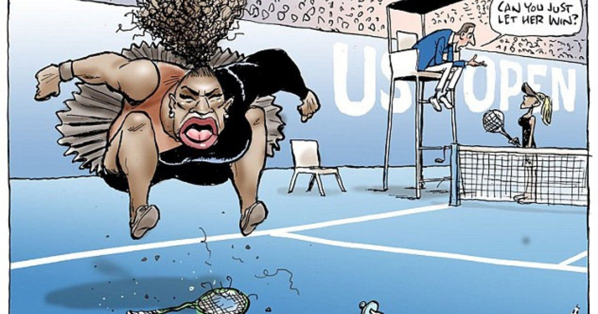 untitled design 13 1.png?resize=412,232 - Serena Williams's Husband Broke Silence Over The Cartoon Of The Tennis Star