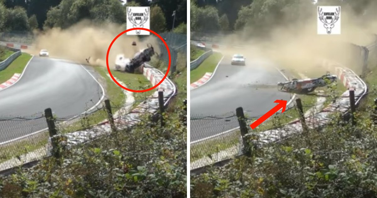 untitled design 35.png?resize=412,232 - Porsche Racer Who Lost Control, Crashed, And Flipped Over Ten Times But Survived With Minor Injuries