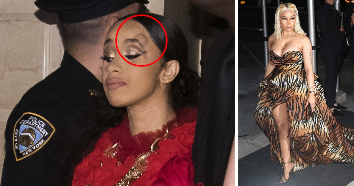 untitled design 37.png?resize=1200,630 - Cops Called On Cardi B After Her SHOE Attack On Rival Nicki Minaj During Harper's Bazaar Icons Party