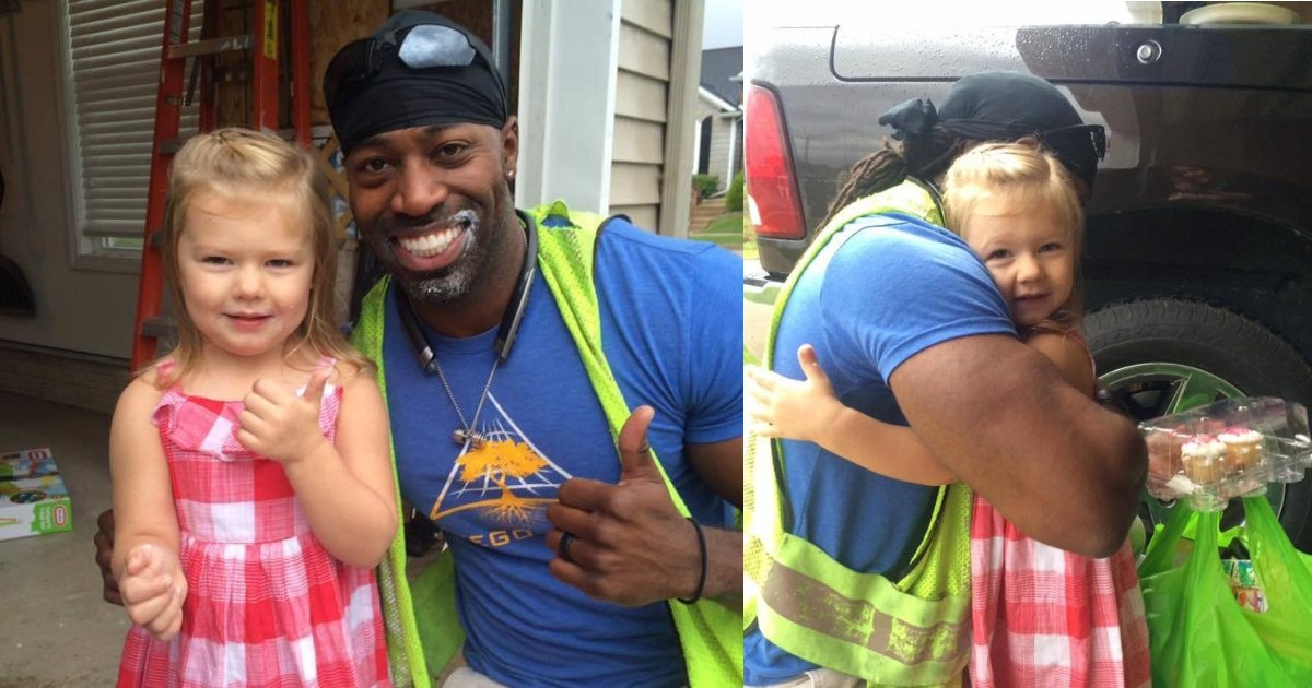 untitled design.jpg?resize=636,358 - Little Girl's Wish of Meeting her Local Garbage Man Comes true on her Birthday when she Presents him with 'Fairy Cupcakes'
