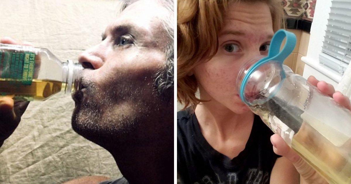 urine3.png?resize=300,169 - Pareja afirma que beber su propia orina les ayuda a perder peso y tratar el acné