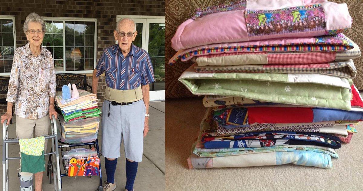 vcvcv.jpg?resize=1200,630 - Un homme de 95 ans a cousu 500 édredons pour des nouveau-nés dans le besoin