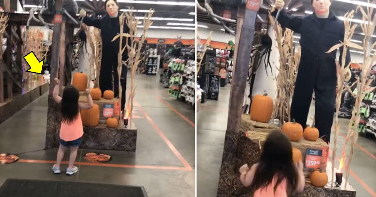 vgdgdgd.jpg?resize=636,358 - Little Girl Danced In Front Of Mike Myers Doll And People On Social Media Are Suspecting She Was Possessed
