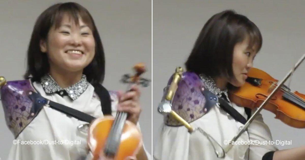 violinportada.jpg?resize=412,232 - Una joven violinista sorprende al mundo al tocar con un solo brazo, su talento es admirable