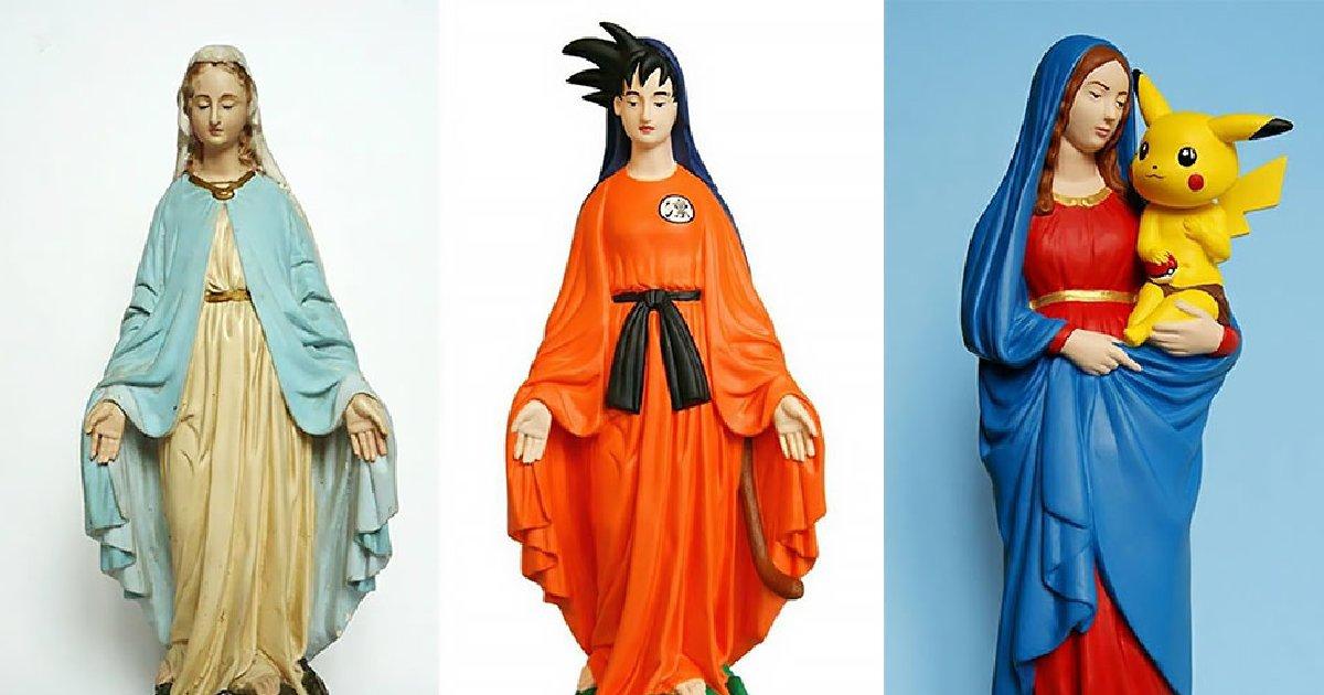 vonvone5b081e99da2 01 12.png?resize=1200,630 - 聖母哪有那麼ㄎㄧㄤ !七龍珠、皮卡丘都哈利路亞,藝術家大膽重新設計聖母像!