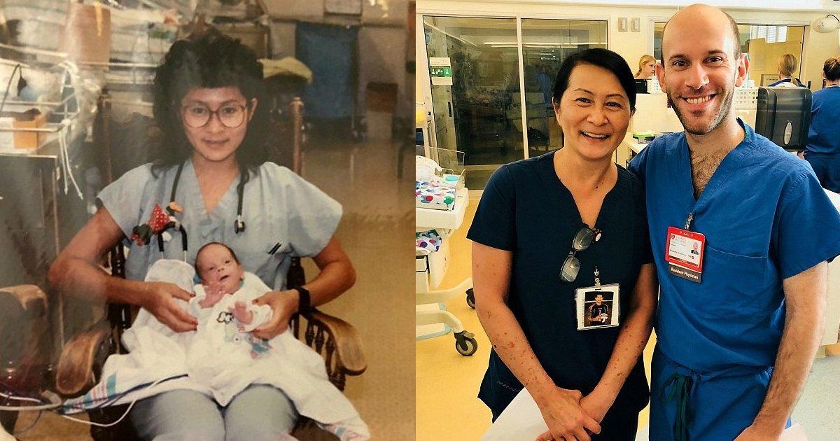 vvv 3.jpg?resize=412,232 - Une infirmière pédiatrique de 52 ans est abasourdie lorsqu'elle découvre qu'elle s'est occupé de son nouveau collègue lorsqu'il était né prématuré dans son hôpital