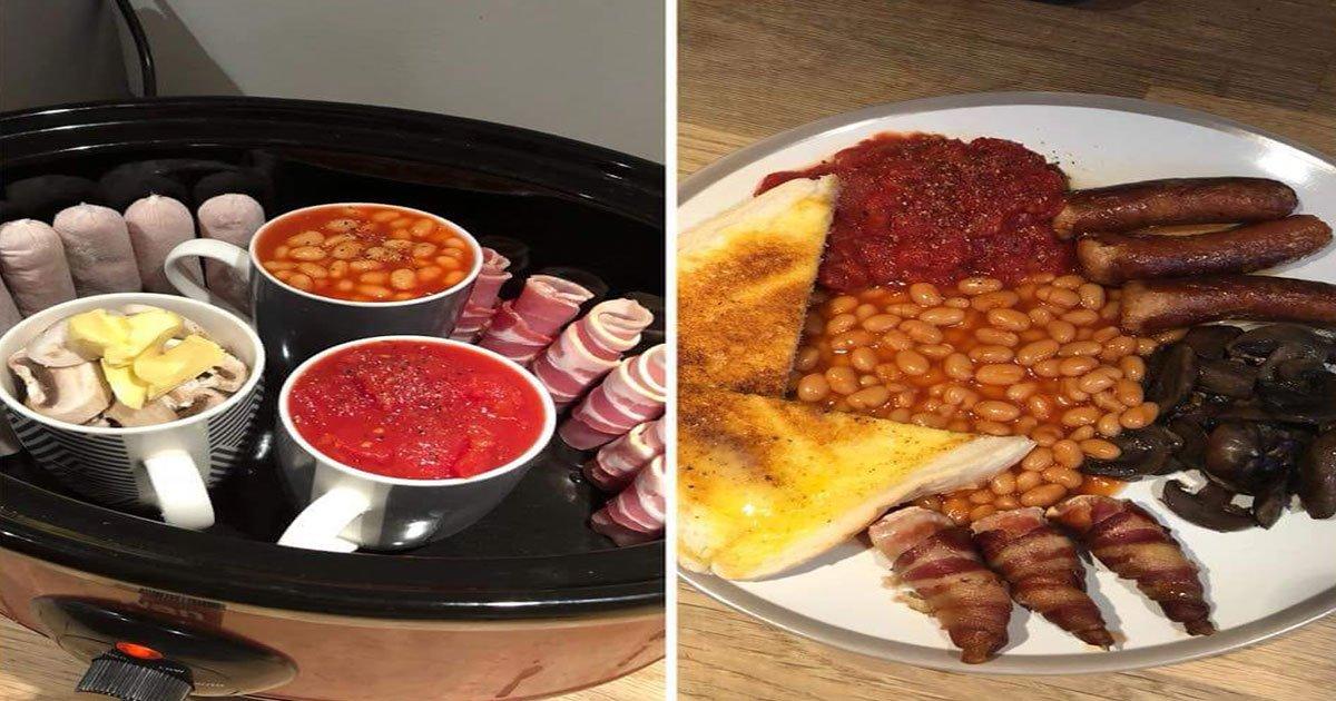 woman shared genius hack of cooking full english in slow cooker and it goes viral.jpg?resize=412,232 - Une femme partage un truc génial pour cuire un petit-déjeuner anglais dans une mijoteuse et il devient viral