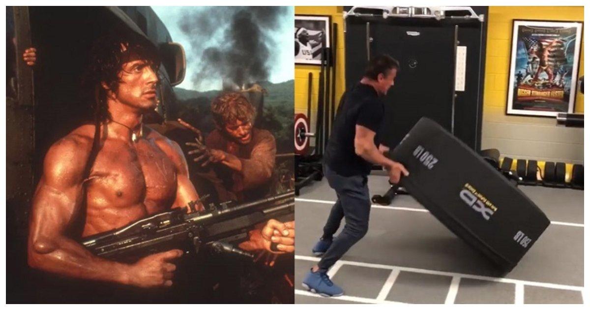 workout.jpg?resize=300,169 - El video de entrenamiento de Sylvester Stallone muestra cómo se ha recuperado mientras se prepara para el Rambo 5