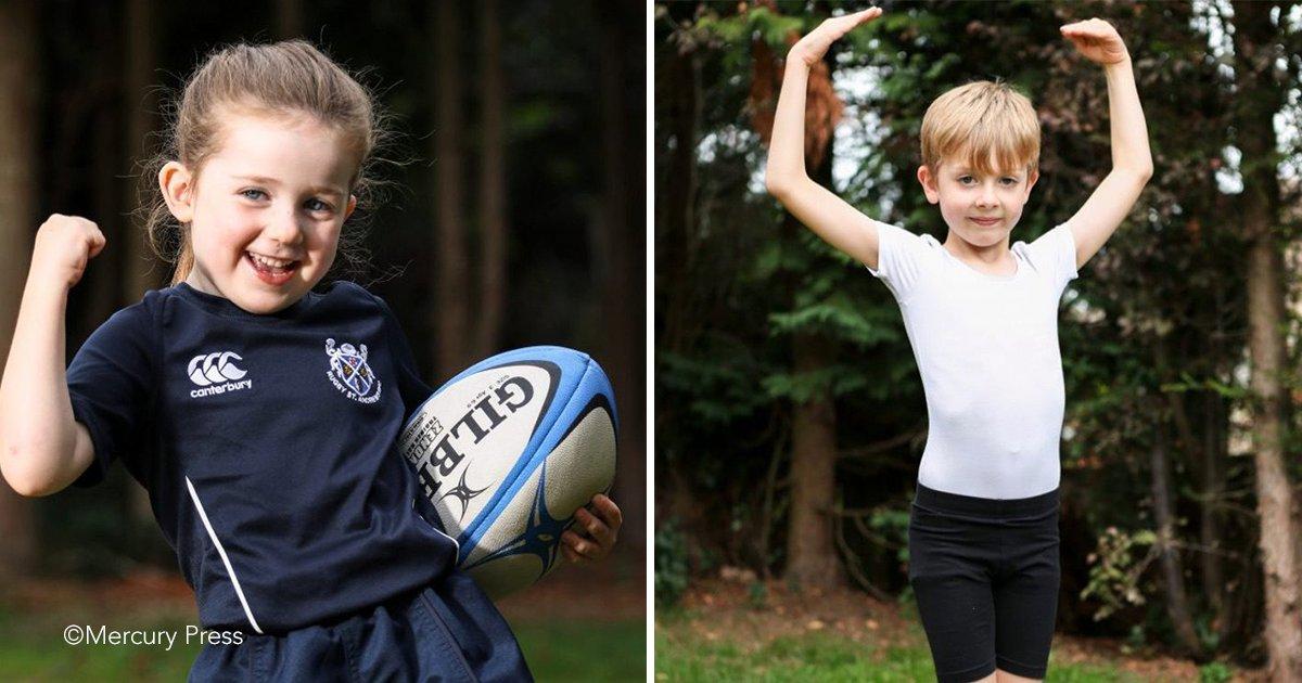 1 13.png?resize=300,169 - Una familia singular, el niño es un gran bailarín de ballet y su hermana una campeona de rugby, los dos han roto estereotipos