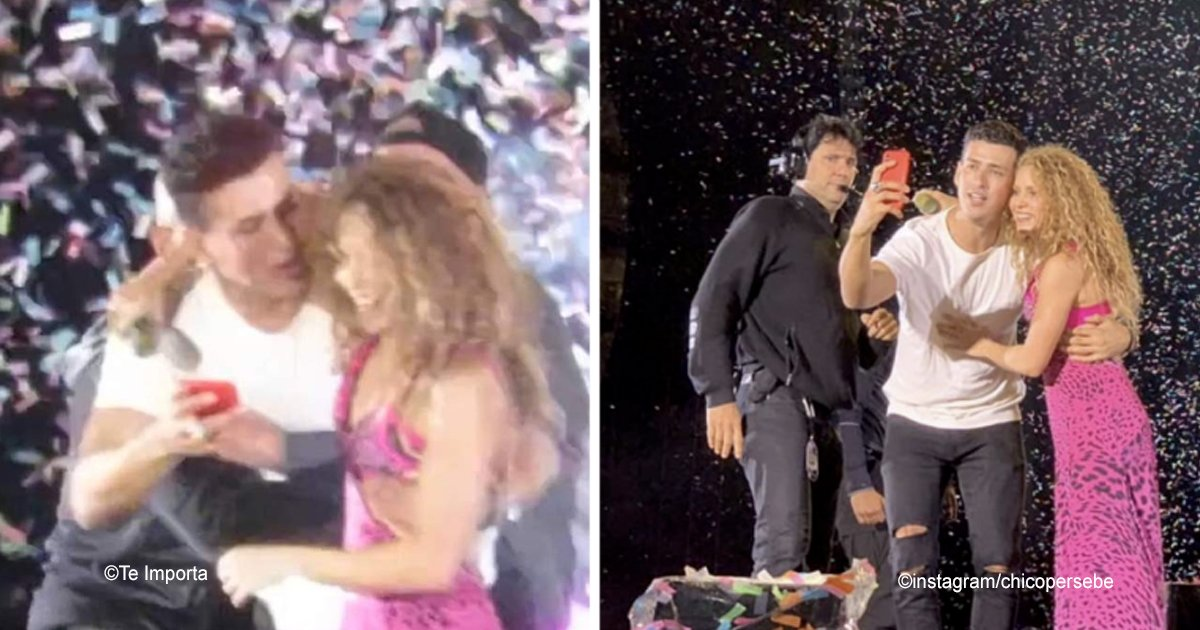 1 138.jpg?resize=412,232 - Shakira abrazó a un fan que logró burlar la seguridad para subir al escenario