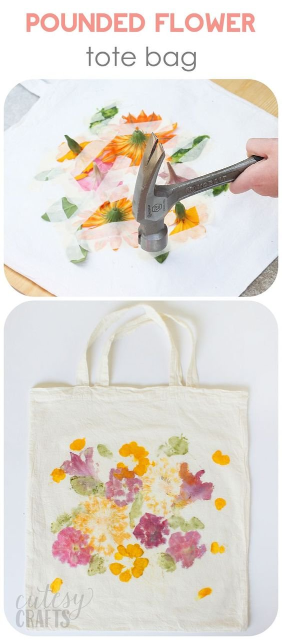 Did you know that you can dye fabric by pounding flowers? This unique craft project makes a perfect Mother