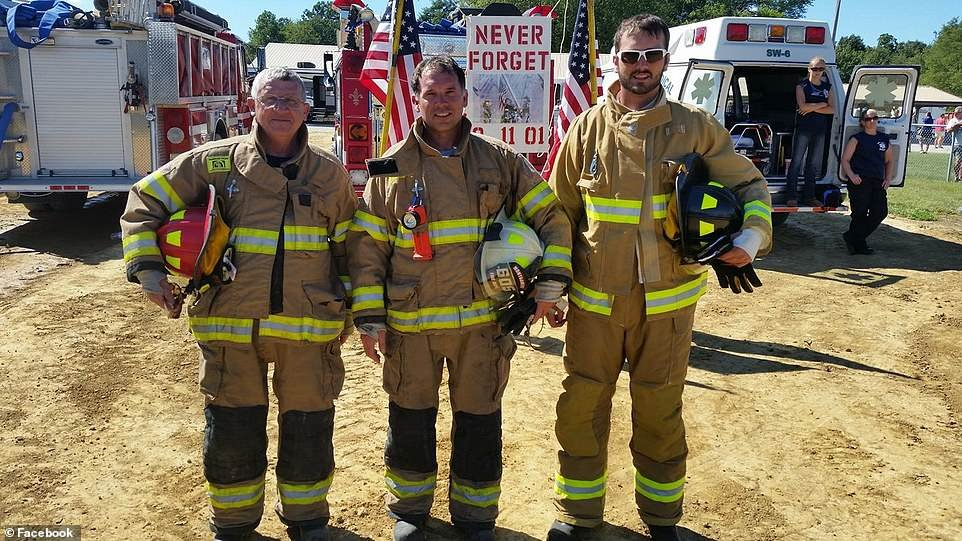 Murphy (right) had been with the Montgomery Volunteer Fire Department since June 2016. He was