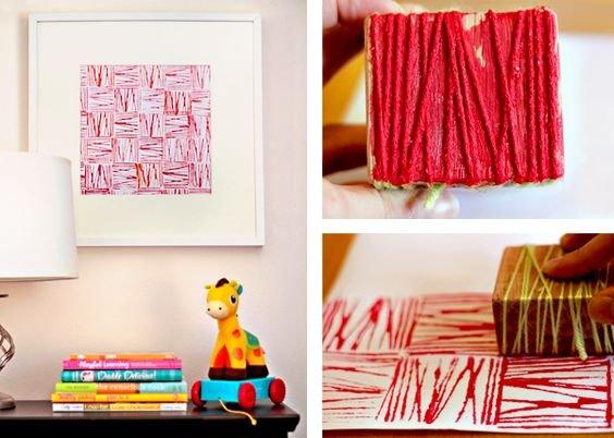 yarn, block, string...diy background!