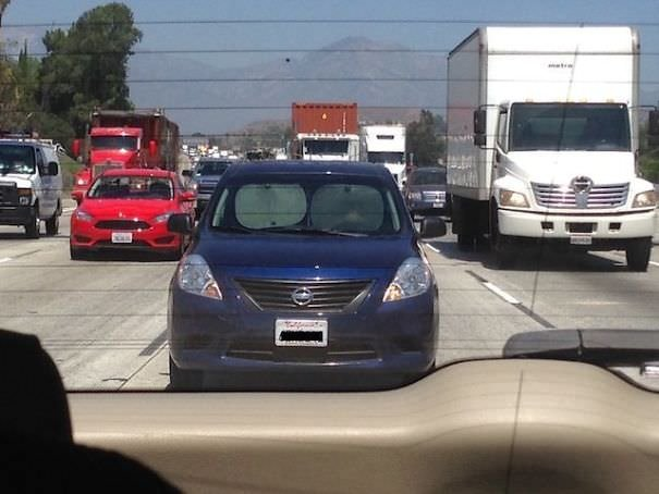 Man Driving With Sun Shades On Freeway