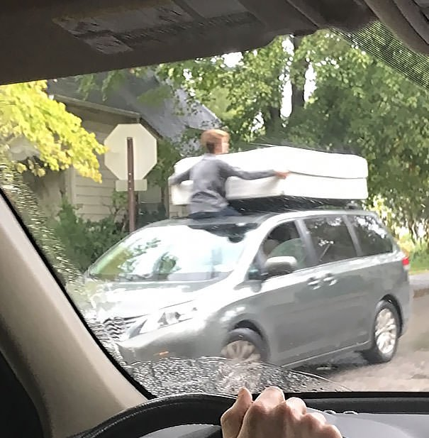 Saw This Over The Weekend. Moving A Couple Mattresses