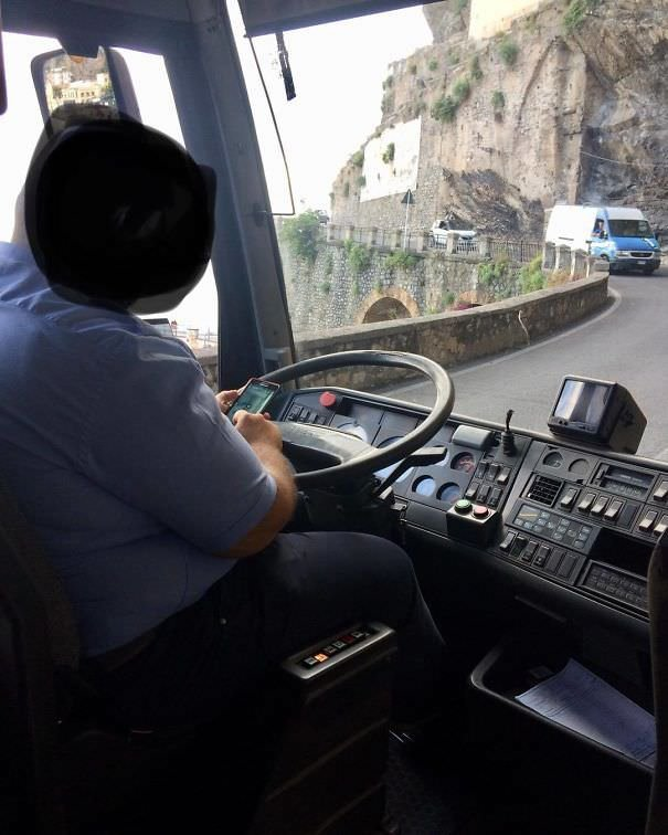 The Roads Of The Amalfi Coast Are Especially Winding, Narrow And Congested