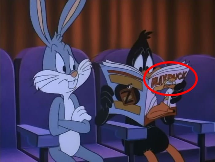 Daffy Reading Playduck Magazine, Alongside Bugs Bunny