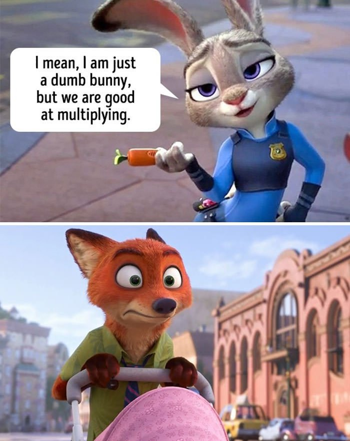 "Judy, A Cheerful Hare Police Officer, Is Counting The Fine Nick The Fox Is Going To Pay. After Voicing The Sum, She Adds, ""I Mean, I Am Just A Dumb Bunny, But We Are Good At Multiplying"""