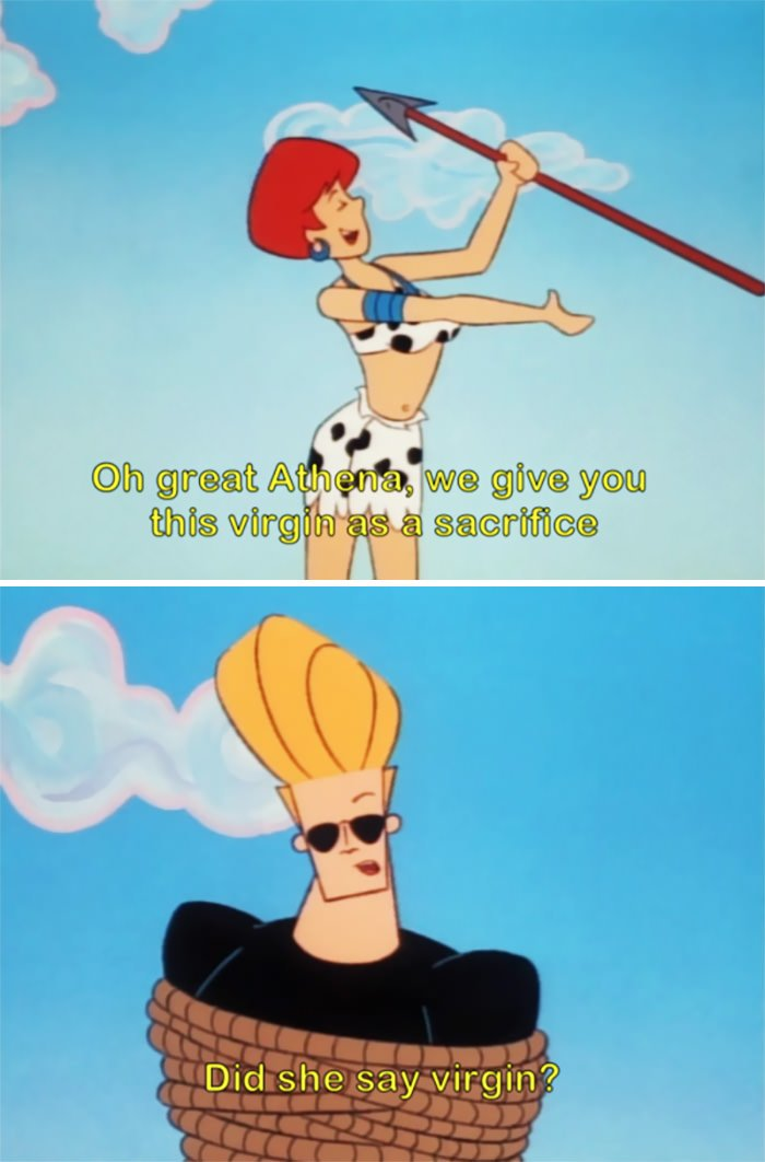 This Virgin Joke In Johnny Bravo Which Is Not Subtle At All
