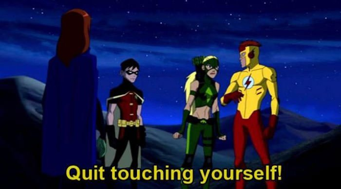 When Kid Flash Was Asked To Quit Touching Himself