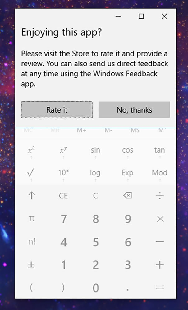 Really Windows 10? The Calculator?