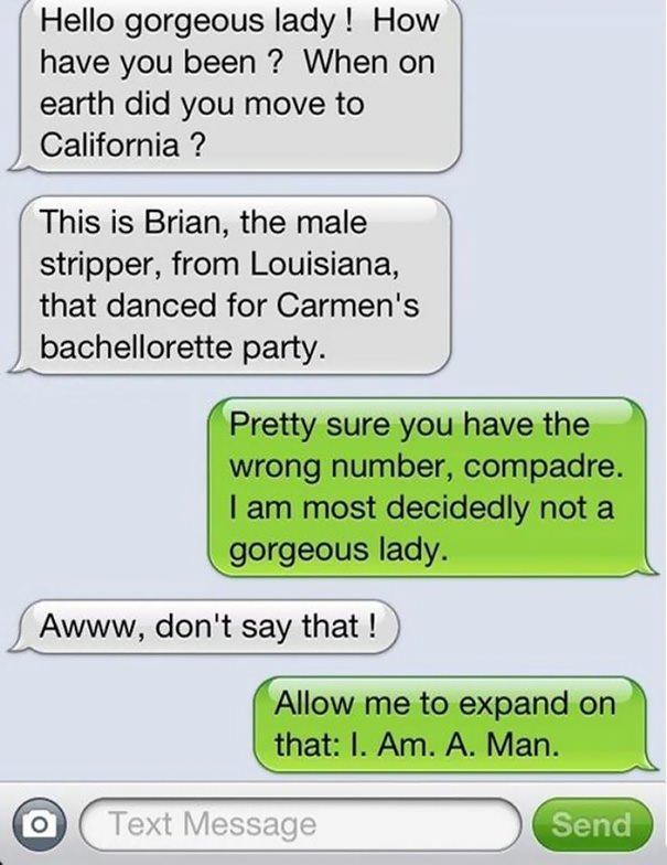 Funny Wrong Number Texts